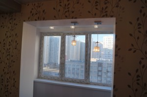 Фото балкона совмещенного с кухней